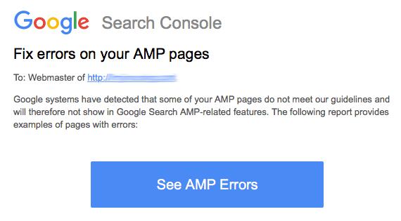 AMP: la Google Search Console distingue tra errori critici e non critici